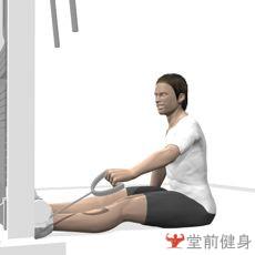 坐姿拉力器侧平拉