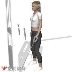 拉力器弯举(单臂)