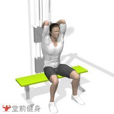 坐姿拉力器臂屈伸