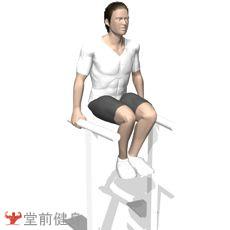 双杠臂屈伸(抬膝)