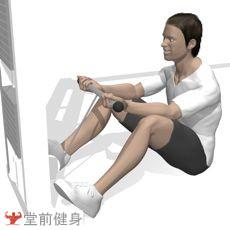 坐姿曲腿臂弯举